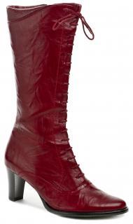 elegantní dámské kozačky Wawel R2122-12 červená